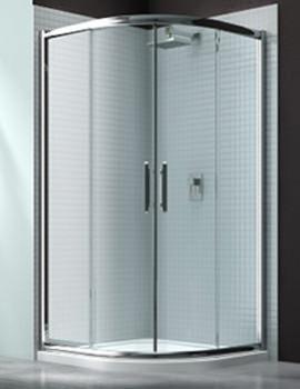 6 Series Double Sliding Door Quadrant Enclosure 800 x 800mm