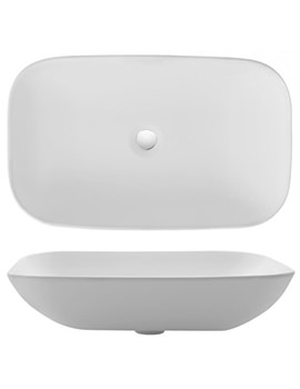 Gallery Serene 580mm Countertop Basin Without Overflow