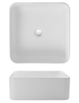 Gallery Bold 400mm Countertop Basin Without Overflow