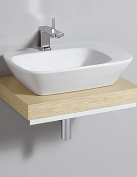 Twyford Vello 600mm Countertop Basin And 600mm Shelf - VO4711WH