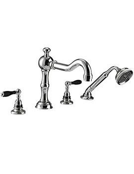 Imperial Bec 4 Hole Bath Filler Tap And Handset Kit - ZXT6002100