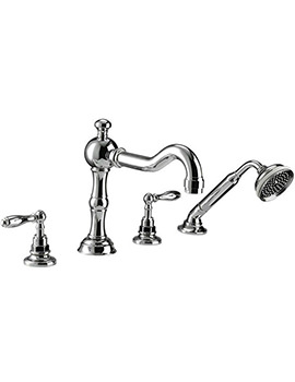 Pre 4 Hole Bath Filler Tap And Handset Kit - ZXT6058100