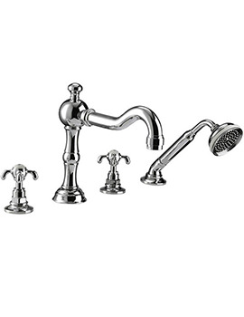 Lierre 4 Hole Bath Filler Tap With Handset Kit - ZXT6036100