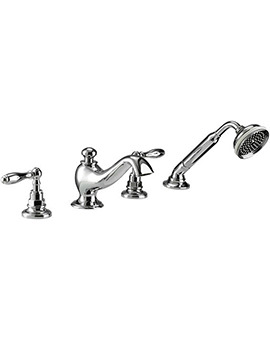 Imperial Vuelo 4 Hole Bath Filler Tap And Handset Kit - ZXT6063100