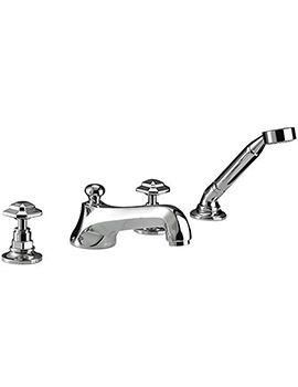 Imperial Niveau 4 Hole Bath Filler Tap With Shower Handset