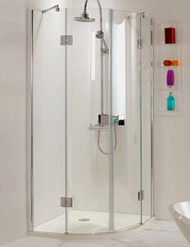 Livello Frame-less Hinged Door Shower Quadrant 900x900 - SE076