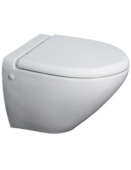 Reserva Wall Hung WC Pan With Soft Close Toilet Seat 555mm