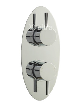 Related Ultra Quest Oval Twin Concealed Thermostatic Shower Valve With Diverter