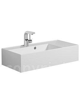 Elite White Gloss Cast Mineral Marble Basin 700mm