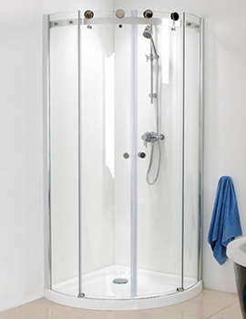 Related Phoenix Motion Frame-less Twin Door Shower Quadrant 1000mm - SE100