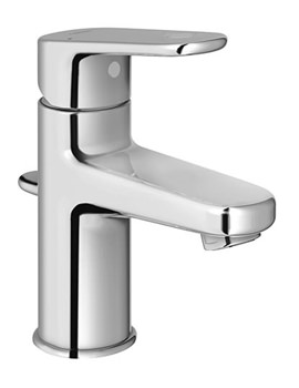Europlus Monobloc Chrome Basin Mixer Tap With Metal Lever