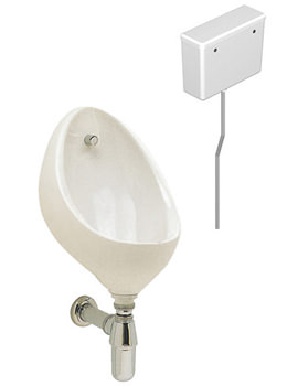 Clifton 1 Urinal Set With Concealed Flush Pipe And Cistern