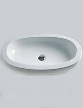 Related Azzurra Vera 750 x 450mm Sit-on Countertop Basin Gloss White