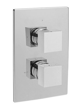 Square Concealed Thermostatic 2 Way Diverter Valve - 83031