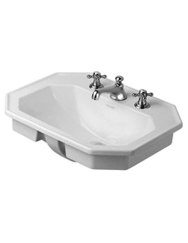1930 Series 580mm Countertop Vanity Basin - 3 Tap Hole