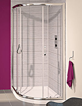 Aqualux Aqua 6 Offset Quadrant Shower Enclosure 1200 x 800mm
