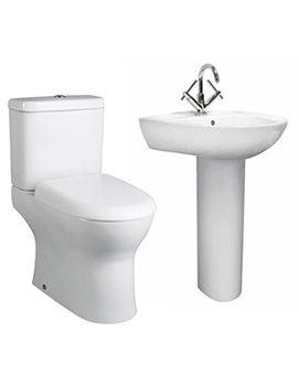 Lauren Perth White 4 Piece Basin And Toilet Set - CPE001