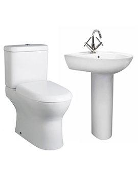 Lauren Perth White 4 Piece Basin And Toilet Set - CPE001