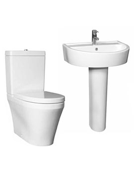 Lauren Marlow White Finish 4 Piece WC And Basin Set - CMA001