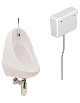 Camden 1 Urinal Set With Exposed Flush Pipe And Cistern