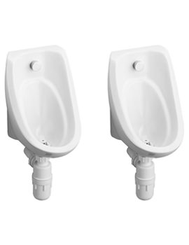 Sandringham White Concealed Pack With 2 Urinal