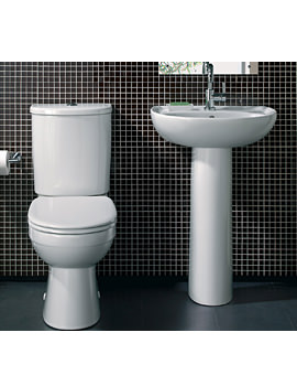 Twyford Galerie 600mm Washbasin With Close Coupled WC