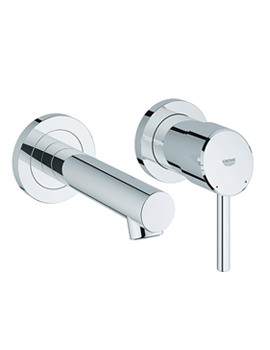 Concetto Wall Mounted 2 Hole Basin Mixer Tap Chrome - 19575001