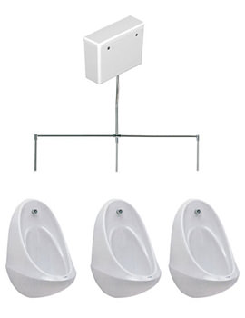Spectrum 3 Urinal Set With Concealed FlushPipe And Cistern