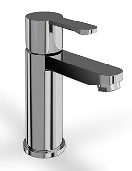 Britton Crystal Chrome Basin Mixer Tap Without Pop Up Waste - CTA1