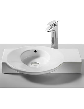 Urbi 4 White On Countertop Basin 600 x 450mm - 32722C000