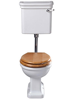 Etoile WC Pan With Low Level Cistern 650mm - ET1WC01030