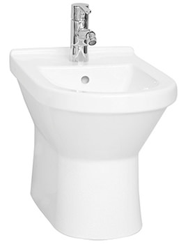 Vitra S50 Floor Standing Bidet 355mm Wide - 5325L003-0288