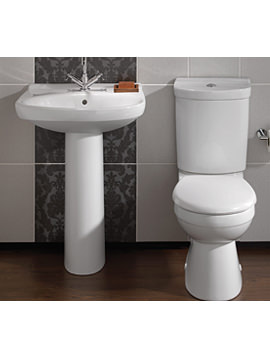 Twyford Grace White Designer Toilet and Basin Suite