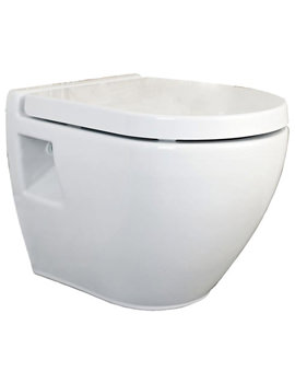 Round Wall Hung WC Pan With Soft Close Toilet Seat -CPA004
