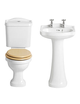 Heritage Rhyland Traditional Cloakroom Suite - 2