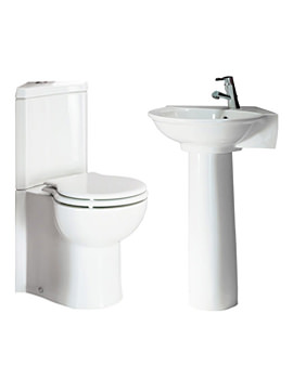 Evolution Corner Cloakroom Suite
