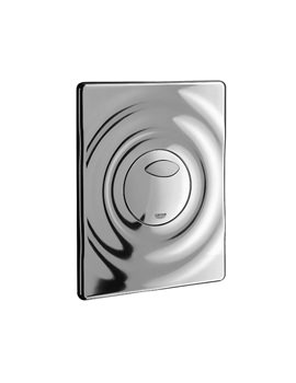 Surf Chrome Wall Mounted Flush Plate - 38861000