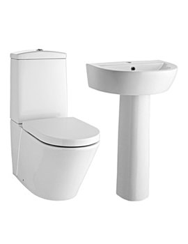 Lauren Solace 4 Piece Cloakroom Suite White - CSCE01