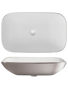 Related Bauhaus Gallery Serene Platinum 580mm Countertop Basin Without Overflow