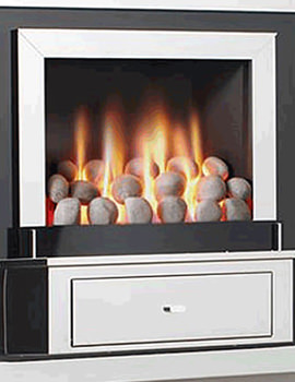 Flavel Vesta Hole In The Wall Gas Fire Stainless Steel-Pebble-FVTP00MN
