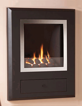 Flavel Finesse Hole In The Wall Gas Fire Chrome-Coal - FSRCYYMN