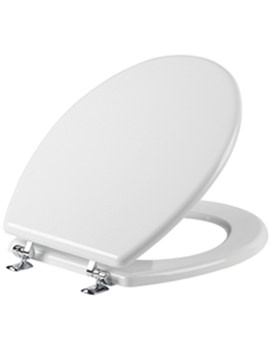Topaz Wood Toilet Seat White - O701T