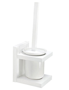 Croydex Maine White Toilet Brush And Holder - WA972422