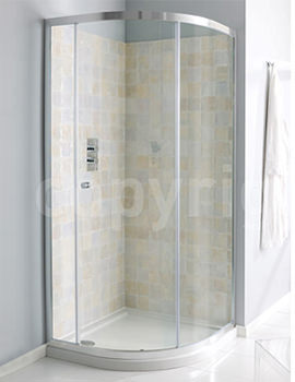Edge Single Door Quadrant Enclosure 900mm - EQSSC0900