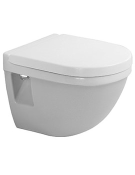 Duravit Starck 3 Compact Wall Hung Toilet 485mm - 2202090000