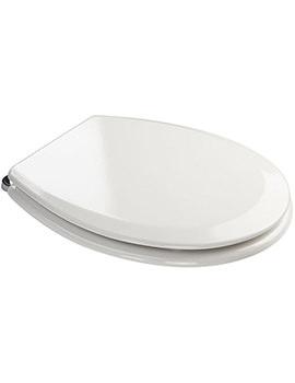 Croydex Ripley White Bevelled Toilet Seat - WL530222H