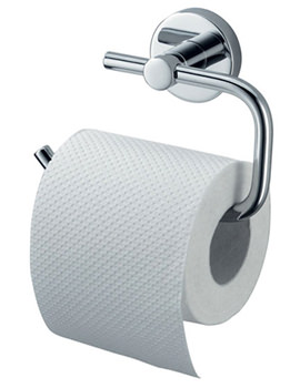 Aqualux Haceka Kosmos Chrome Toilet Roll Holder - 1121427