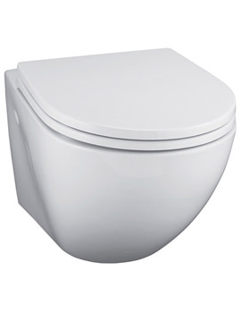 White Wall Mounted WC Pan - E000501
