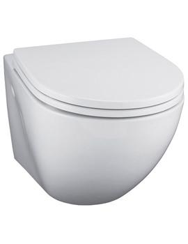 White Wall Mounted WC Pan - E000501