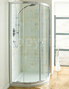 Simpsons Edge Double Door Quadrant Enclosure 800mm - EQDSC0800